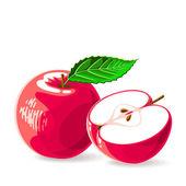 Fresh red apples — Stock Vector