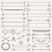 Vintage hand drawn design elements set — Stockvektor