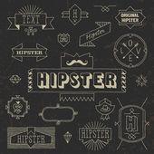 Vintage hipster hand drawn design elements set — Stock Vector