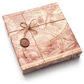 Parcel in brown paper — Stock Photo