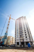 Process of building a multi-storey building — Stock Photo