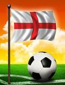 England flag and ball — Stock Photo