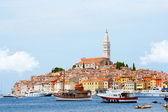 Sea port in city of Rovinj — Stockfoto