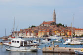 Sea port in city of Rovinj — Stock Photo