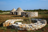 Stages of the construction of traditional Istrian houses — Stock Photo