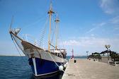 Sea port in city of Porec — Stock Photo