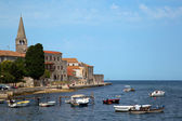 Sea port in city of Porec — Foto Stock