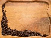 Coffee beans on stump — Stock Photo