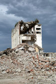 Remains from the demolition of old derelict buildings — Photo