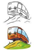 Jolly bus — Stock Vector