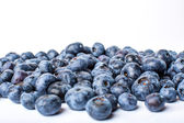 Heap of blueberries isolated on white background — Stock Photo