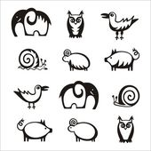 Animals set icon — Stock Vector