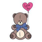 Cute teddy bear — Stock Vector