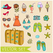 Vector summer set — Stock Vector