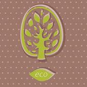 Eco karty na tle polka dot — Wektor stockowy