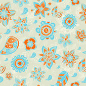 Vector flower seamless pattern — Stock Vector