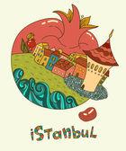 город стамбул — Cтоковый вектор