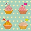 Cupcakes to Valentine's Day — Stock Vector