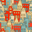 Vector cute city pattern — Vector de stock