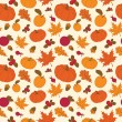 Autumn seamless pattern — ストックベクタ