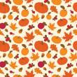 otoño de patrones sin fisuras — Vector de stock