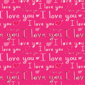 I love you seamless pattern — Vector de stock