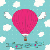 Vector cute postcard to Valentine's Day — Vector de stock
