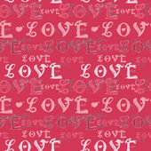 Vector love sign pattern to Valentine's Day — Stock Vector