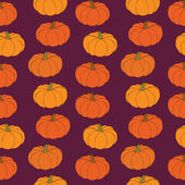 Pumpkin seamless pattern — Stock Vector