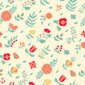 Vector flower seamless pattern. — Stock Vector
