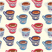Turkish coffee cup seamless pattern — Vecteur