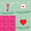 Set of card template to Valentine's Day — Stock Vector #43381435