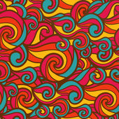Colorful wave seamless pattern — Stockvektor