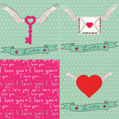 Set of card template to Valentine's Day — Stock Vector