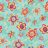 Colorful flower seamless pattern — Stock Vector