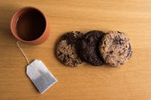 Homemade biscuits with a cup of tea — ストック写真