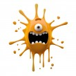 Screaming orange one-eyed monster — Stock Photo #42881691