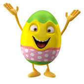 Easter egg with hands up — Stock Photo