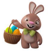 复活节兔子控股篮子 — 图库照片