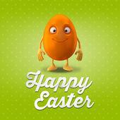 Blank orange Easter egg — Stock Photo