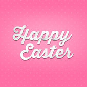Happy Easter on pink  background — Stock fotografie