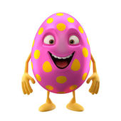 Pink excited Easter egg — Stock Photo