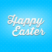 Happy Easter on blue background — Stok fotoğraf