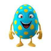 Cute blue Easter egg — Stock Photo
