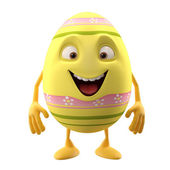 Cute yellow Easter egg — Stock Photo