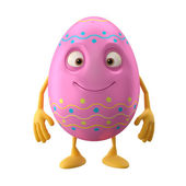 Sweet pink Easter egg — Stock Photo