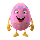 Cute pink Easter egg — Stock Photo