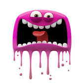 Pink panicked monster — Stock Photo