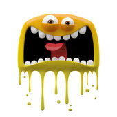 Yellow panicked monster — Stock Photo