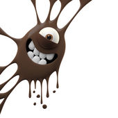 Brown smiling monster — Stock Photo
